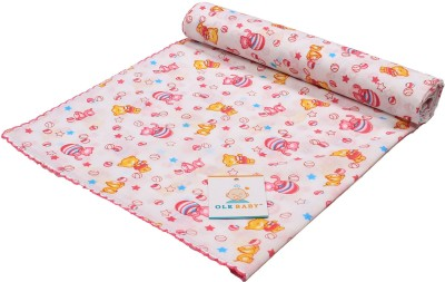 Ole Baby Printed Single Swadding Baby Blanket Pink