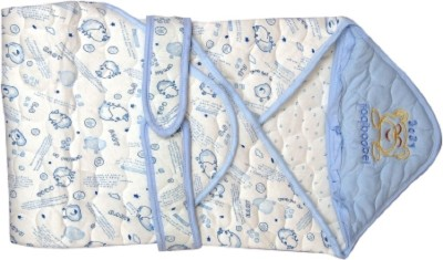 Anmol Abstract Single Quilts & Comforters White, Blue