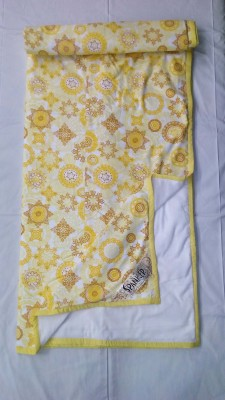 Spanker Floral Double Dohar Yellow