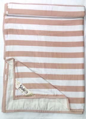 Spanker Striped Double Dohar Peach