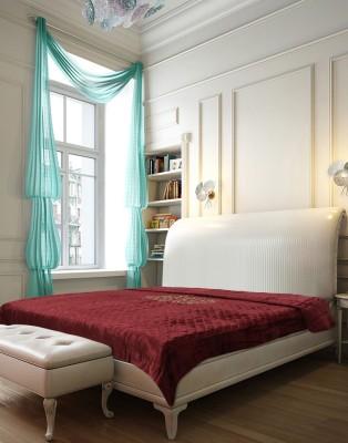Needlecrest Plain Double Quilts & Comforters Maroon