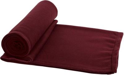 Aazeem Plain Single Blanket maron