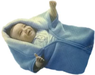 Zavia Plain Single Hooded Baby Blanket Multicolour