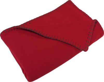 Wobbly Walk Plain Single Blanket Red