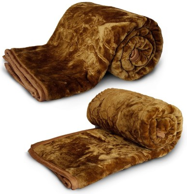 Home India Animal Double Blanket Brown