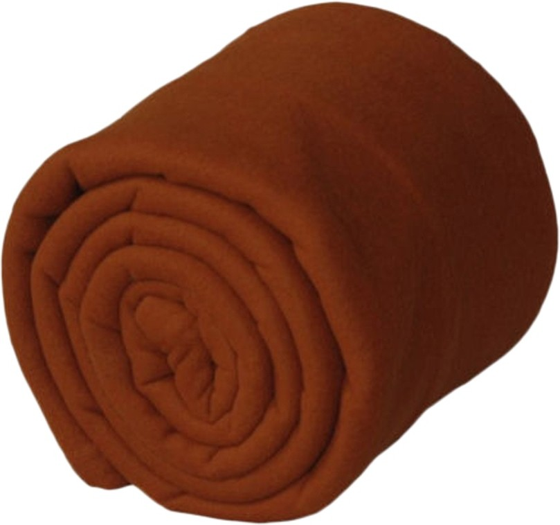 GOYAL FASHION Plain Single Blanket COFFEE(Fleece Blanket)