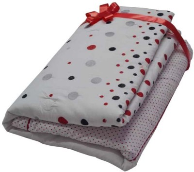 The Intellect Bazaar Floral Double Quilts & Comforters White and Red