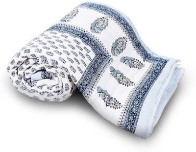 Monil Floral Single Quilts & Comforters Blue
