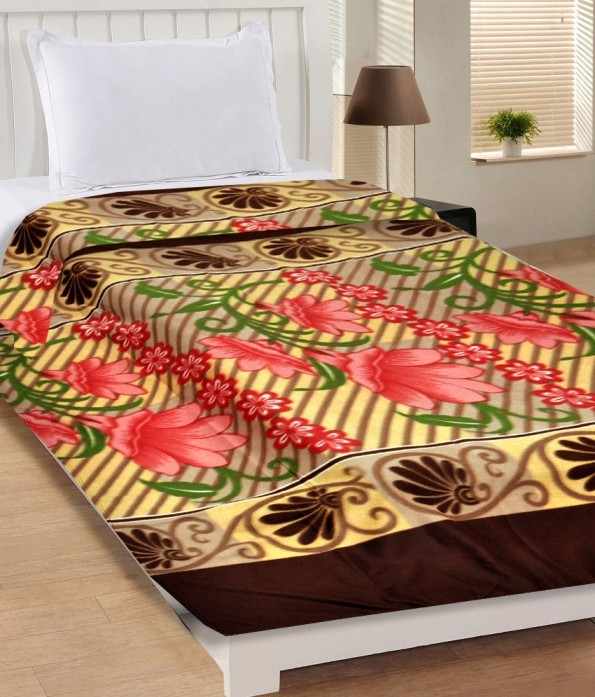 Midha Group Self Design Single Blanket Multicolor