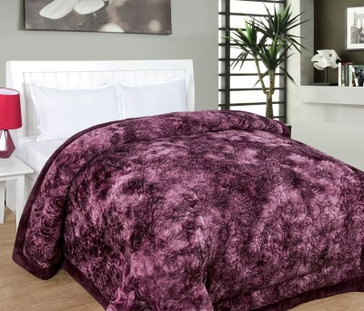 Dayal Overseas Embroidered Double Quilts & Comforters Purple
