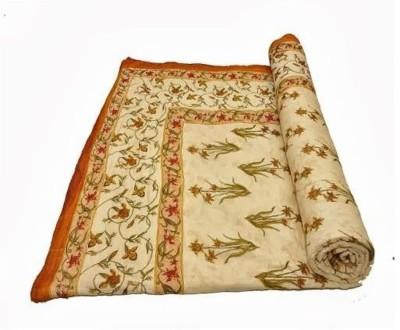 Cat Eye Export Floral Double Quilts & Comforters Golden