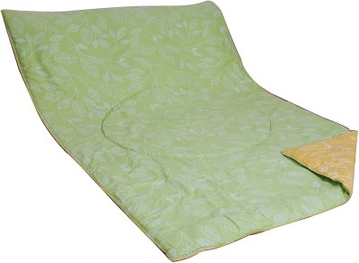 Aurraa Printed Single Quilts & Comforters Yellow, Green