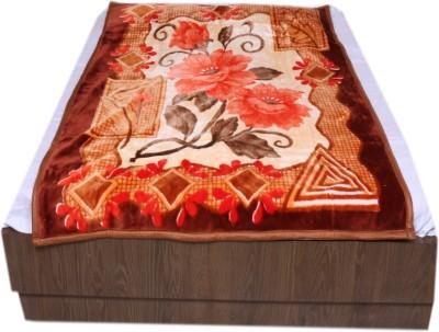 IndiStar Floral Single Blanket Brown