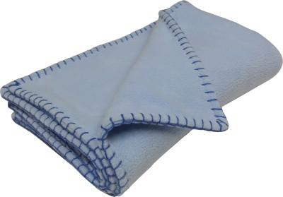 Wobbly Walk Plain Single Blanket Light Blue