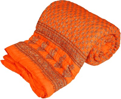 Blankets World Floral Single Quilts & Comforters Orange