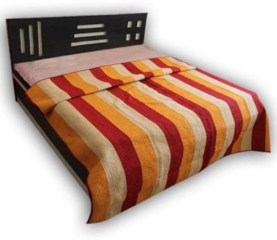 Handicrunch Striped Double Quilts & Comforters Multicolor
