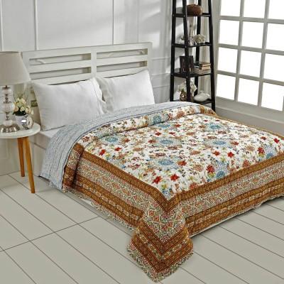 Ratan Jaipur Floral Queen Quilts & Comforters Brown