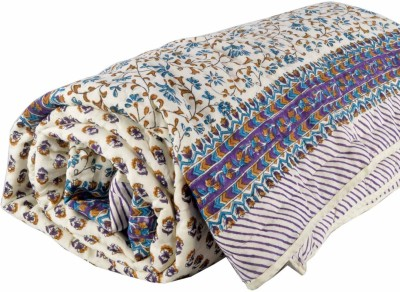 DFR Floral Single Quilts & Comforters Purple