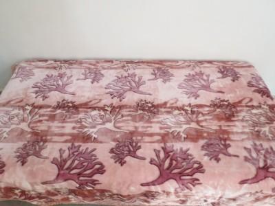 Florida Floral Single Blanket Pink