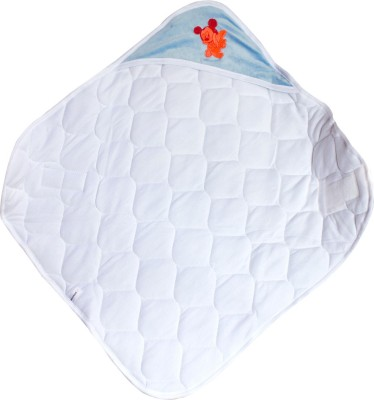 Quick Dry Checkered Single Top Sheet Light Blue