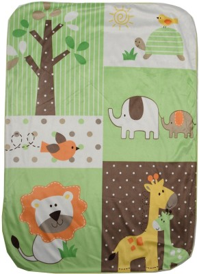 BornBabyKids Self Design Single Top Sheet Green