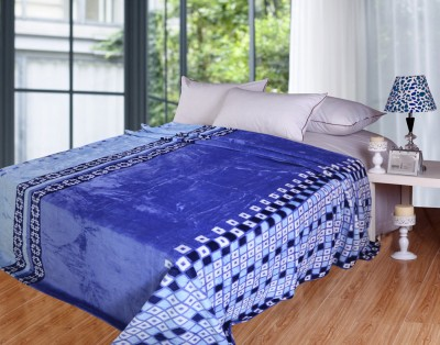 Coverlet Abstract Double Blanket Blue