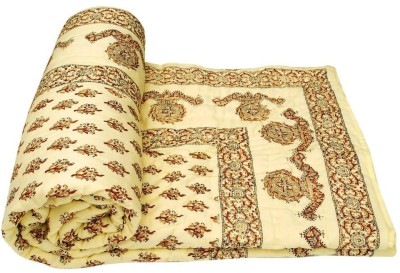Sudharaj Printed Double Blanket Cream