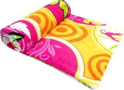 Indian Heritage Floral Double Blanket Multicolor