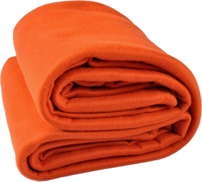 Kema Plain Single Blanket Orange