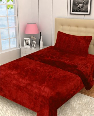 Excel Bazaar Plain Single Blanket Red