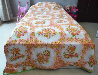 Indian Rack Floral Single Dohar White, Pink, Peach