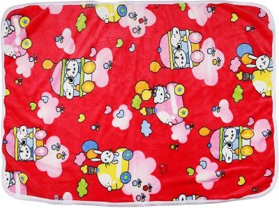 Tinny Tots Cartoon Single Blanket Red, White