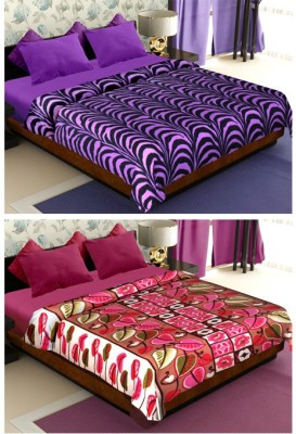 Story @ Home Floral Double Blanket Purple