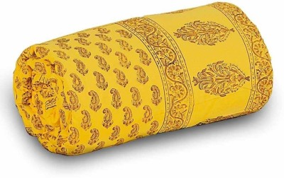 UFC Mart Floral Double Quilts & Comforters Yellow