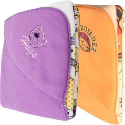 My NewBorn Cartoon Crib Hooded Baby Blanket Purple, Beige