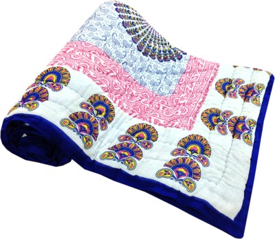 Fab Rajasthan Unique Arts Floral Single Quilts & Comforters Multicolor