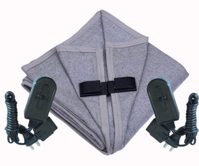 Winter Care Plain Double Electric Blanket Grey