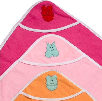 Utc Garments Plain Single Hooded Baby Blanket Purple, Green, Pink, Red, Blue, Darkpink, Orange