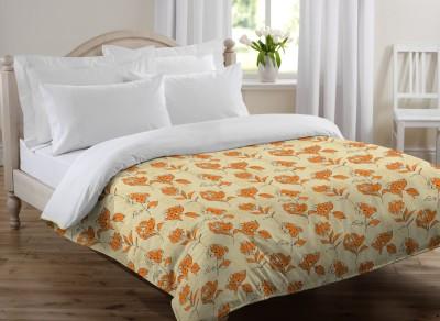 Bella Casa Floral Single Quilts & Comforters Beige
