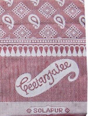Geetanjalee Floral Single Top Sheet Maroon