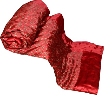 Lamha Crafts Floral Single Quilts & Comforters Red