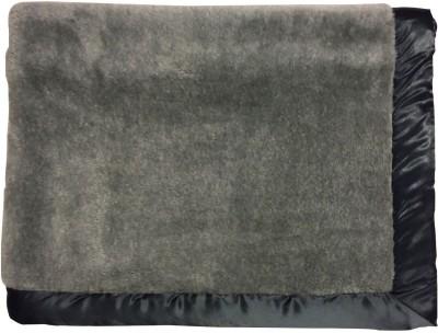 Wobbly Walk Plain Single Blanket Grey