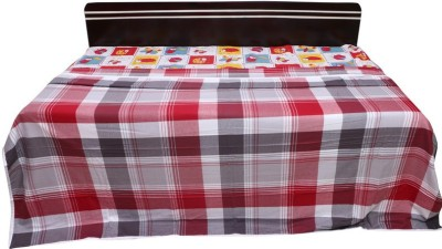 venka home Striped Single Quilts & Comforters Red, Black