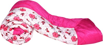 Glitter Floral Single Quilts & Comforters Pink