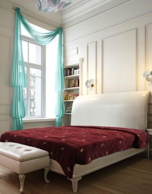Needlecrest Damask Double Quilts & Comforters Maroon, Brown