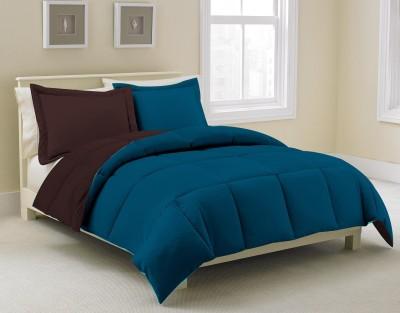 KIAANA USA Plain Double Quilts & Comforters Blue, Brown
