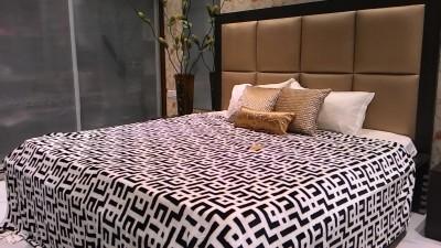 Tima Checkered Double Blanket White