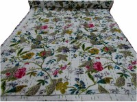 HAG Art and Craft Floral Double Quilts & Comforters Multi-Colour(AC Blanket, 1 Kantha Quilt)