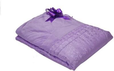 The Intellect Bazaar Floral Double Quilts & Comforters Purple