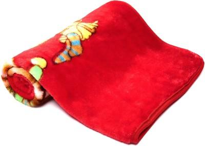 Jain International Cartoon Single Blanket Red